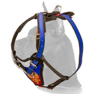 """Russian Patriot"" Painted Great Dane Leather Harness"
