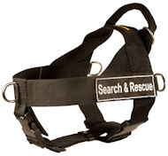 SAR Harness for Great Dane-Search&Rescue NYLON DOG HARNESS