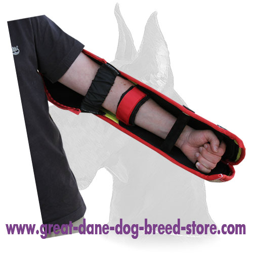 Reliable bite dog jute sleeve with velcro straps super safe