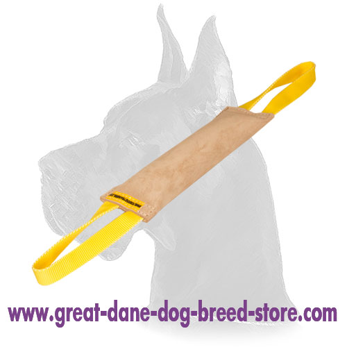 Ultra Leather dog tug for your Great Dane for Great Dane