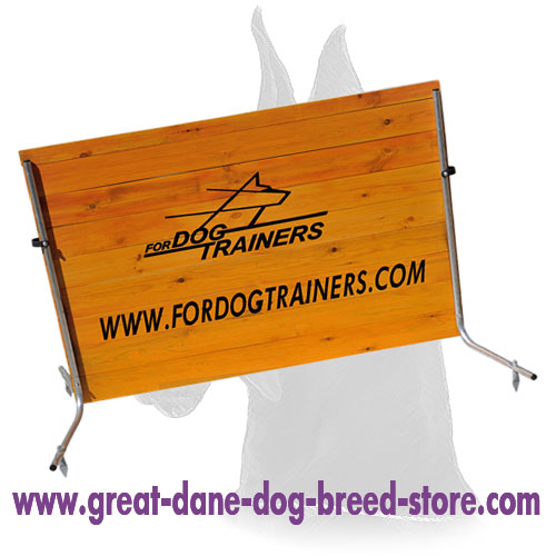 Wooden Jump for Great Dane Schutzhund Training