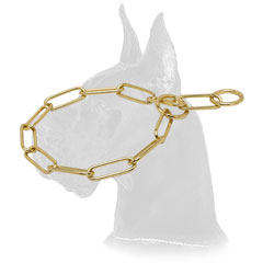 Great Dane Choke Dog Collar of Strong Brass