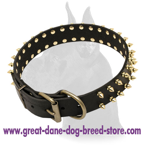 Great Dane High Quality Leather Collar