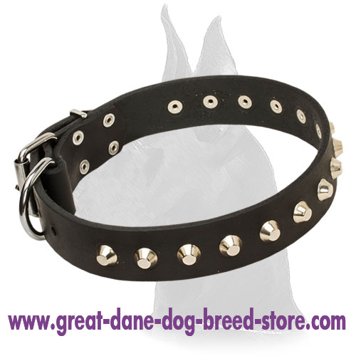 Fashion Leather Collar for Great Dane