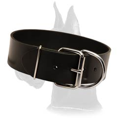 Adjustable Great Dane Leather Dog Collar