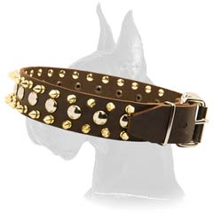 Quality Great Dane Leather Dog Collar