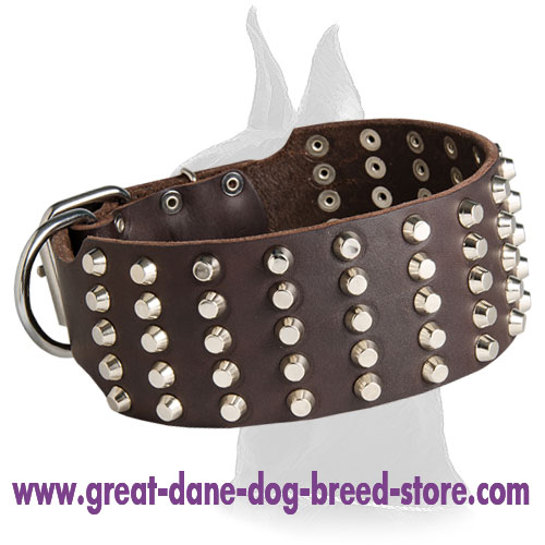 Great Dane Leather Collar Extra Wide