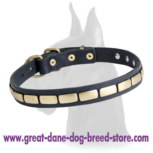 Great Dane Quality Leather Collar