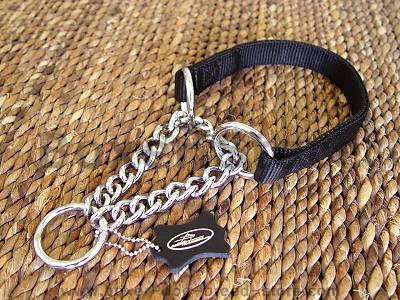 All Weather Nylon Martingale chain Dog Collar 18-26 inch collar