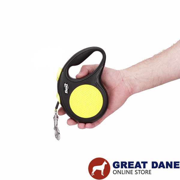 Everyday Walking Retractable Leash Neon Design for Total Safety