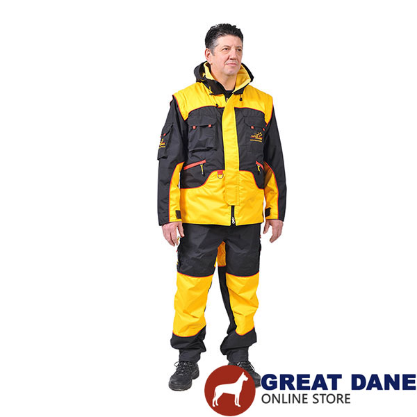 Pro Dog Training Suit of Water Resistant Membrane Fabric