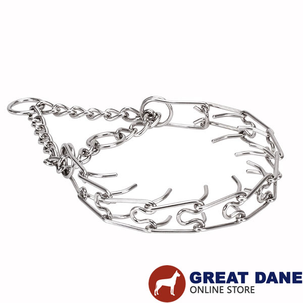 Stainless steel pinch collar for ill behaved dogs