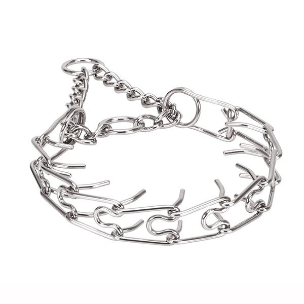 Rust proof stainless steel dog prong collar with removable links