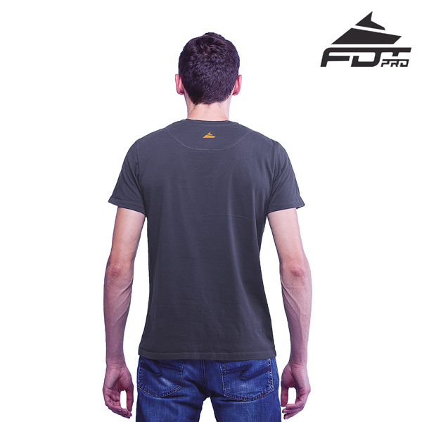 Men T-shirt of Dark Grey FDT Professional for Dog Walking