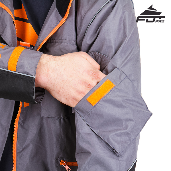 Comfortable Sleeve Pocket on FDT Pro Design Dog Training Jacket