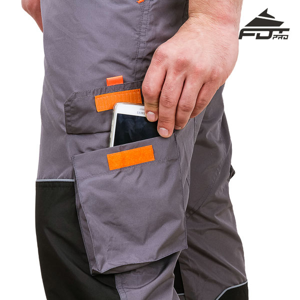 Professional Design Dog Training Pants with Reliable Velcro Side Pocket