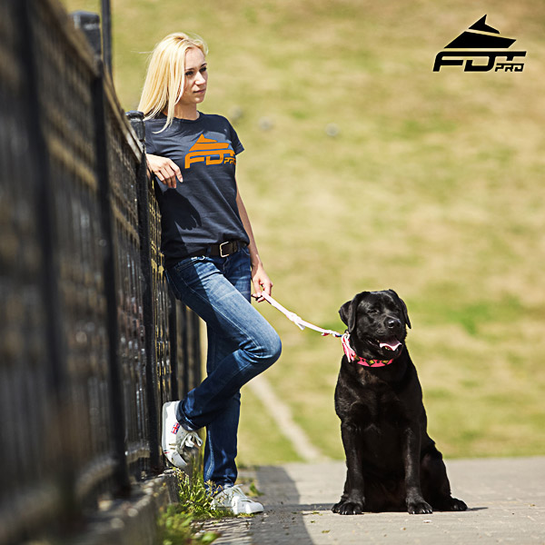 Dog Training Women T-shirt of Reliable Cotton