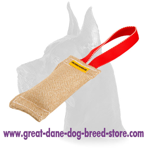 French Linen Great Dane Bite Tug for Bite Work