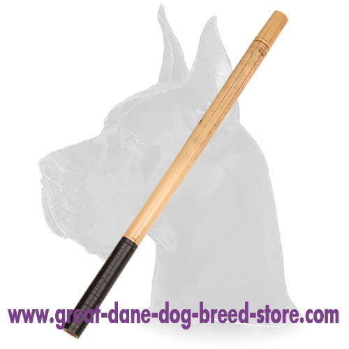 Training Dog Bamboo Stick with Covered Handle Grip