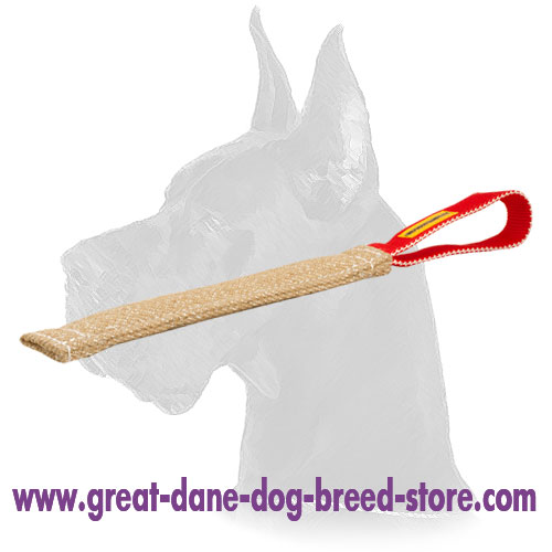Jute Pocket Toy with 1 Handle for Great Dane