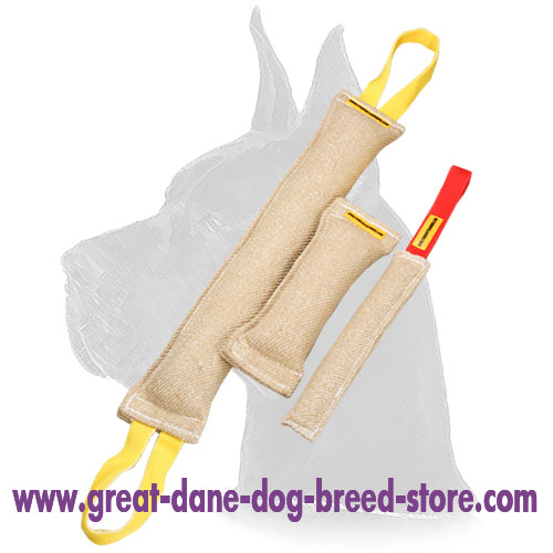 Jute Dog Bite Tugs Equipped with one Handles