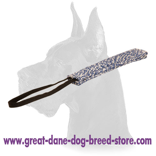French Linen Great Dane Bite Tug for Puppy Training