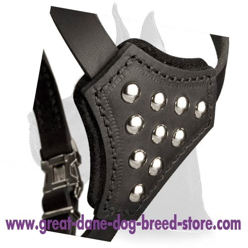 Universal Great Dane leather Dog Harness