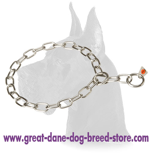 Great Dane Stainless Steel Fur Saver - Choke Collar 1/9 inch (3 mm)