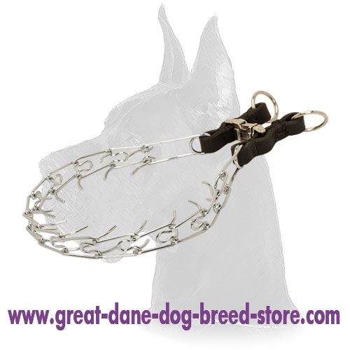 Chrome Plated Dog Pinch Collar (2.25 mm) (1/11 inch)