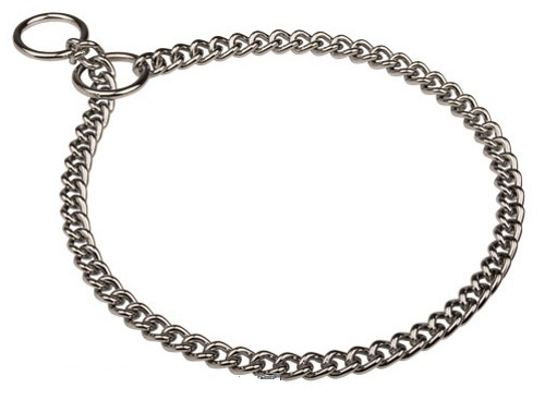 Chrome Plated Choke Dog Collar for Big Dogs like Great Dane-Chain Dog Collar 1/9 inch (3mm)