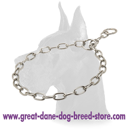 Chrome Plated Dog Fur Saver Collar 1/8 inch (3.2 mm)