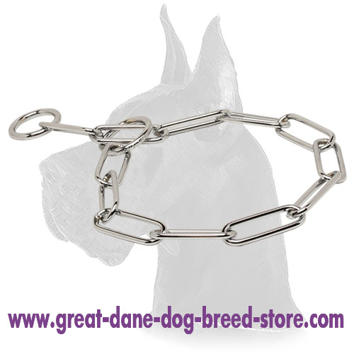 Fur Saver Dog Chain of Chrome Plated Steel - 1/6 inch (4.0 mm)