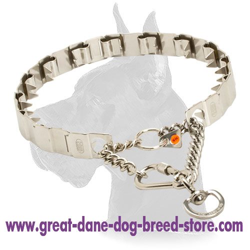 Neck Tech Fun Stainless Steel Dog Collar for Great Dane - 24 inch (60 cm)