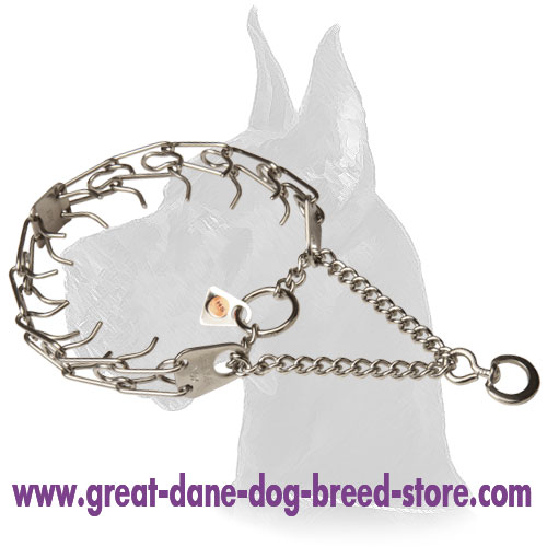 Stainless Steel Great Dane Pinch Collar - 1/11 inch (2.25 mm)