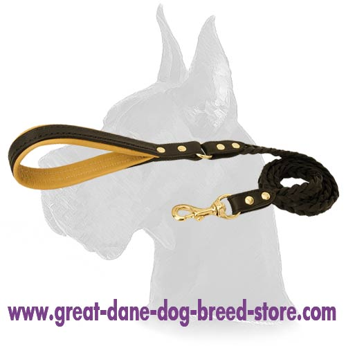 Quality Great Dane Leather Dog Leash