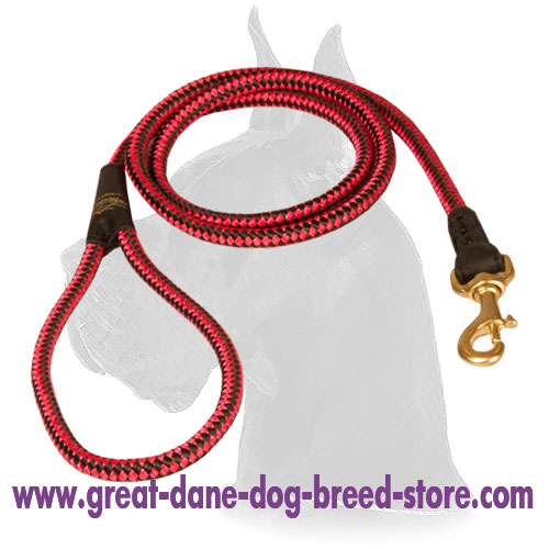 Nylon Great Dane Leash for tracking