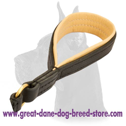 Non-stretch Great Dane Leather Dog Leash