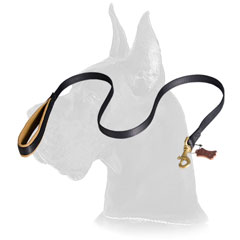 Nylon Great Dane leash with with Support Material on the Handle