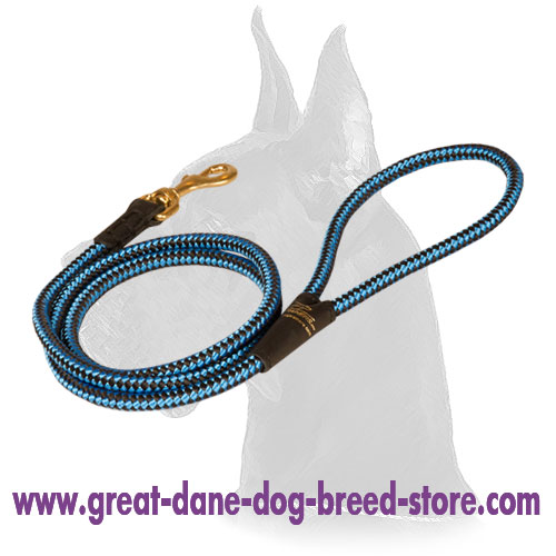 Cord nylon dog leash for Great Dane