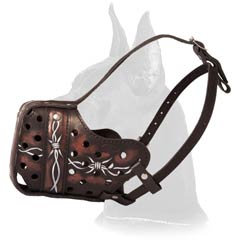 Stylish Leather Muzzle